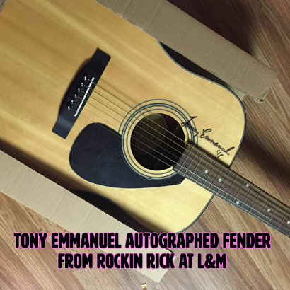 EWoS Silent Auction Tony Emmanuel Fender